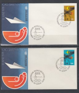 UN Geneva 77-78 Geneva U/A Set of Two FDC