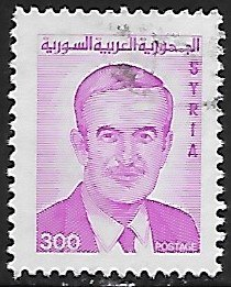 Syria # 1225A - President Assad - used.....{Gn16}