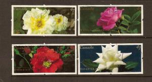 CANADA SET ON ROSES USED STAMPS LOT#213