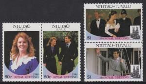 Tuvalu Niutao 1986 Royal Wedding 51-52 MNH