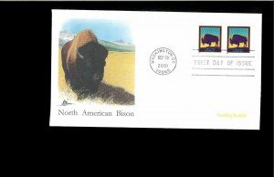 2001 First day Cover Bison3467