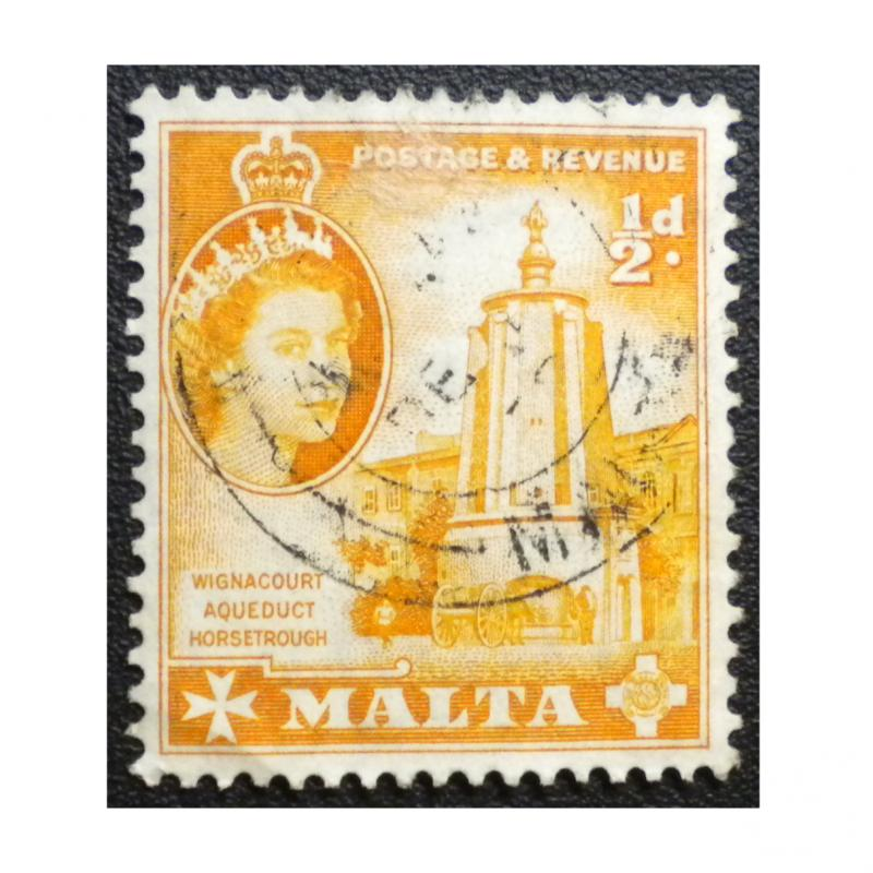 STAMP FROM MALTA. YEAR 1956 - 57. SCOTT # 247. USED