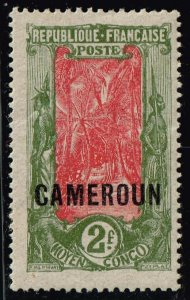 FRANCE COLONIES 1921 CAMEROUN OVPT MH/OG 2F STAMP