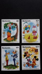 Disney - Redonda 1985. - Mark Twain ** MNH complete set
