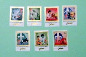 Guinea - 852-58, MNH Set. Dr. Koch, TB. SCV - $17.75