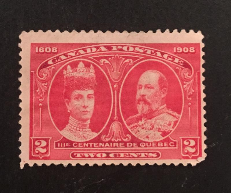 Canada Scott 98 Queen Alexandra And King Edward Two Cent Used