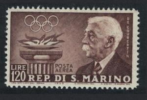 San Marino Pierre de Coubertin Pre-Olympic Games Issue 120L SG#575