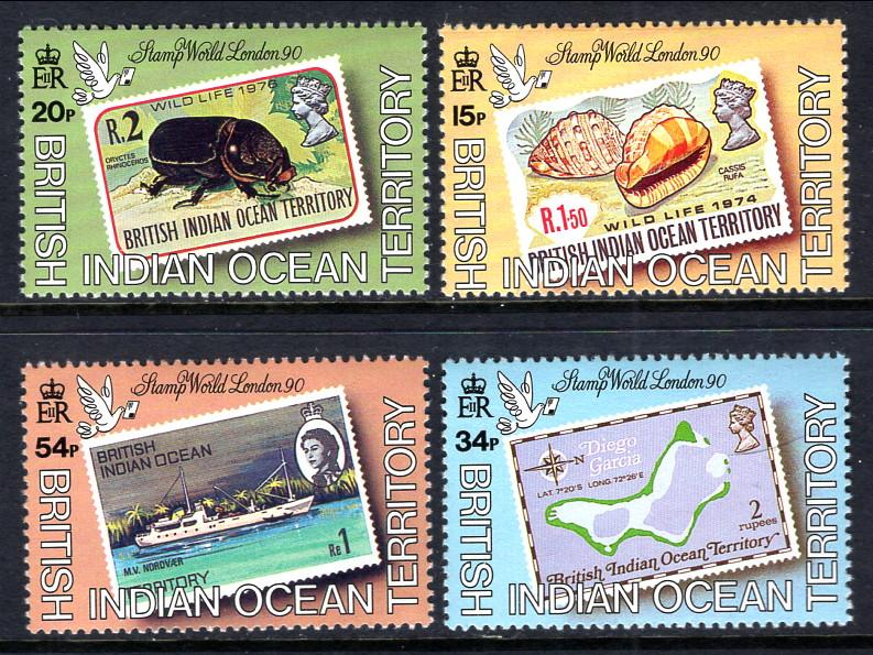 British Indian Ocean Territory 90-93 MNH VF