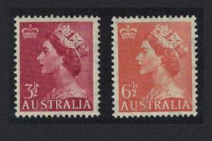 Australia Queen Elizabeth II Definitives 2v Watermark Mixed SG#263-263a