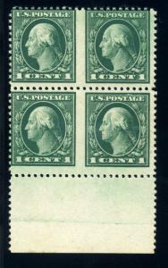 Scott 498b Washington Mint Imperf Between ERROR Block of 4 Stamps with PSE Cert