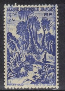 FRENCH EQUATORIAL AFRICA SC# 169 **MH**  1946 50c    SEE SCAN