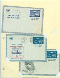 UNITED NATIONS LARGE SELECTION of POSTAL STATIONERY (15 SCANS)