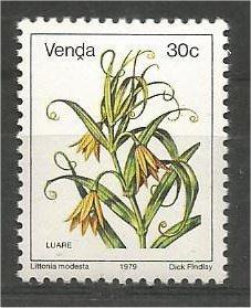 VENDA, 1979, MNH 30c, Flowers, Scott 20