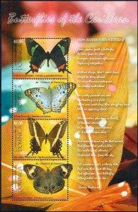 2009 Dominica Butterflies, Papillons, Farfalle Souvenir Sheet VF/MNH! LOOK!