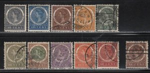 Netherlands Indies # 48-57, 50a ~ Cplt Set of 11 ~ MX,.Mixed Conditions...