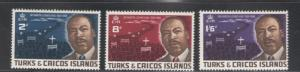 Turks & Caicos 1968 Martin Luther King Scott # 178 - 180 MNH