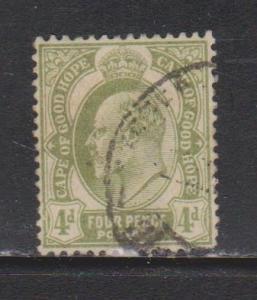 CAPE OF GOOD HOPE Scott # 68 Used - King Edward VII