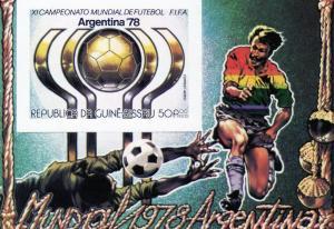 Guinea-Bissau 1978 World Cup Soccer 78 SS Imp.MNH Mi Bl.89B