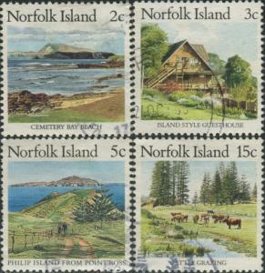 Norfolk Island 1987 SG406-409 Scenes FU