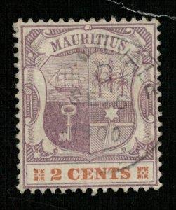 Mauritius 1895 Coat of Arms 2с (T-184)