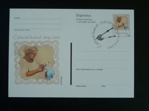 lace embroidery stationery card Slovenia 85755