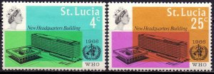 St Lucia. 1966. 182-83. WHO. MLH.