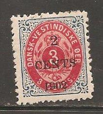 Danish West Indies  SC  24  Mint,  Hinged