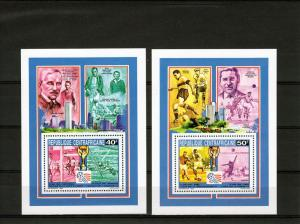 Central African 1993 World Cup USA 8 Souvenir Sheets Perforated Mi#.Bl.547/54