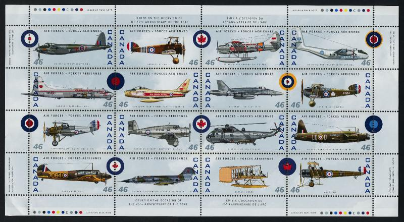 Canada 1808 MNH Military Aircraft, RCAF
