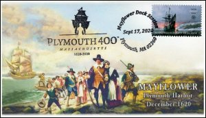 20-303, 2020, Plymouth 400, Event Cover, Pictorial Postmark, Mayflower, SC 5524