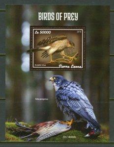 SIERRA LEONE 2019  BIRDS OF PREY SOUVENIR SHEET MINT NEVER HINGED