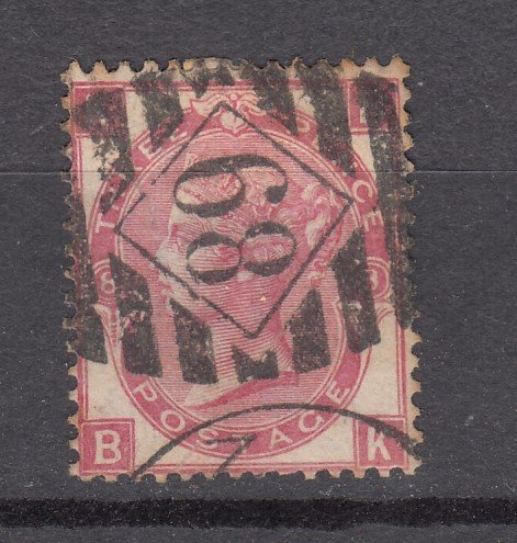 J27443 1867-80 great britain used #49 plate # 8 queen