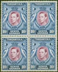 KUT 1944 10s Purple & Blue SG149b P.13.25 x 13.75 V.F MNH Block of 4