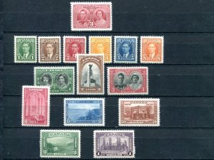 Canada #231/245   Mint  VF  NH   - Lakeshore P...