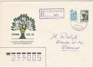 Lithuania 1990 Restored Independent Lithuanian Republic Stamps Cover ref R17271