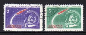 North Vietnam 160-161 Set U Yuri Gagarian's Space Flight (F)