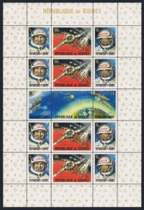 Guinea 382-387a,388-393a sheets,MNH. Space 1965.American,Russian achievements.