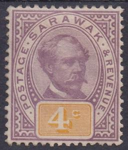 SARAWAK 1888 RAJA BROOKE 4C