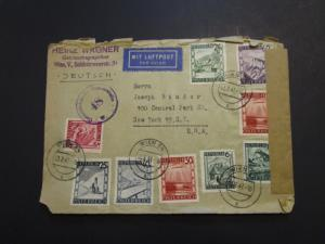 Austria Post WWII Censor Cover to USA / Light Creases / Tears (VI) - Z3713