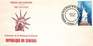 Senegal 700 Statue of Liberty U/A FDC