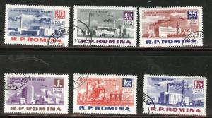 ROMANIA Scott C129-34 used CTO Airmail stamp set 1962