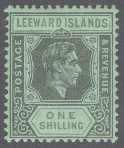 Leeward Is 1942 1s Black&Grey on emer SG 110bb Scott 111v LMM/MLH Cat £130($168)