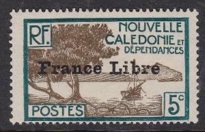 NEW CALEDONIA ^^^^^sc#221 mint LH  FRANCE LIBRE $$@ lar 1660nca