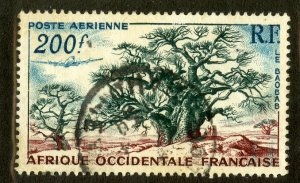 FRENCH WEST AFRICA C20  USED SCV $2.75 BIN $1.25 NATURE
