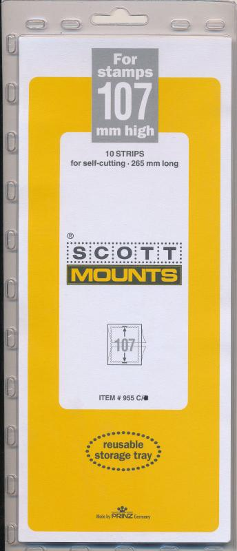 Prinz Scott Stamp Mount 107/265 CLEAR Background Pack of 10