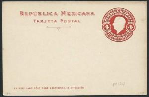 MEXICO Early 4c postcard unused............................................66201