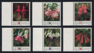 Isle of Man British Fuchsia Society 6v SG#390-395