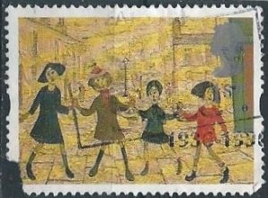 """Great Britain 1603 (used filler) 1st class rate, """"Children Playing"""" (1995)"""