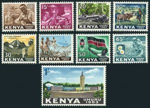 Kenya 1-9,MNH.Michel 1-9. Cattle branching,Wood carving,Riveter,Timber industry,