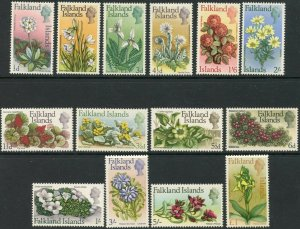 FALKLAND IS. Sc#166-179 1968 Flowers Defins Complete Set OG Mint Hinged